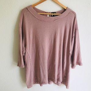 H by Bordeaux pink blush blouse